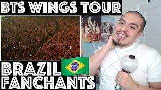 BTS THE WINGS TOUR BRAZILIAN ARMYs FANCHANTS Reaction