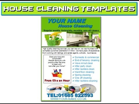 House Cleaning Flyers Templates - Youtube