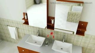 Virtu Usa Clarissa 60 Inch Modern Honey Oak Bathroom Vanity Stone Top Md-457s