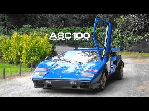 Valentino Balboni Drives Lamborghini Countach Walter Wolf Lp400 1