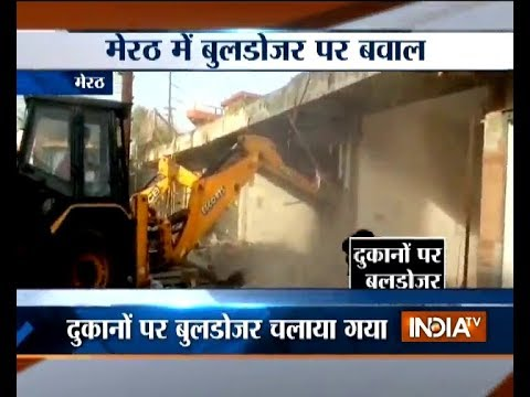 Public objects to demolition of illegal construction in Meerut