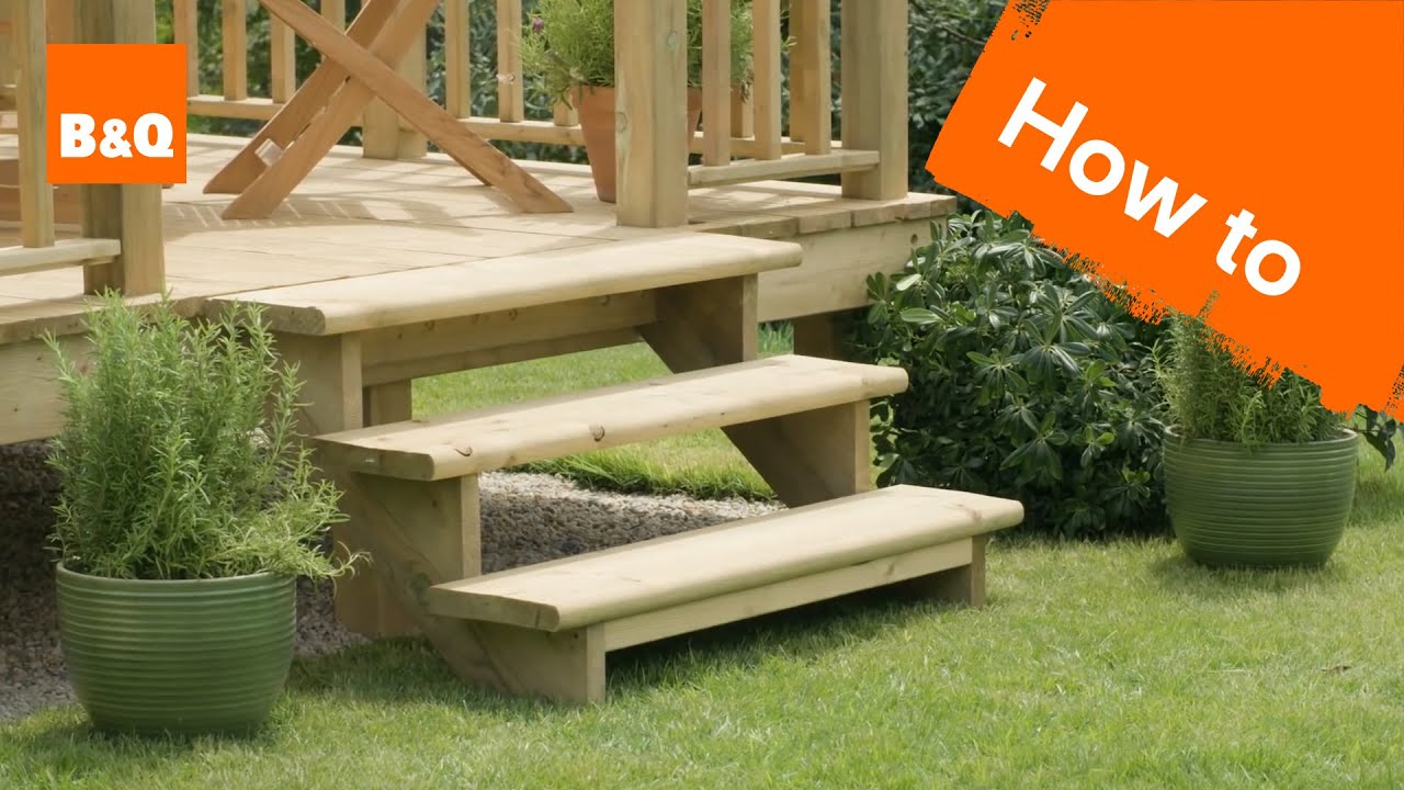 How To Build A Decking Step Youtube | Outside Steps For Sale | Wood | Iron | Handrail | Pensacola | Door