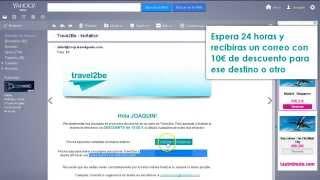 Cupón de descuento 10€ en Travel2be
