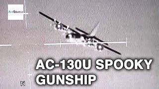AC-130U Spooky Gunship in Action
