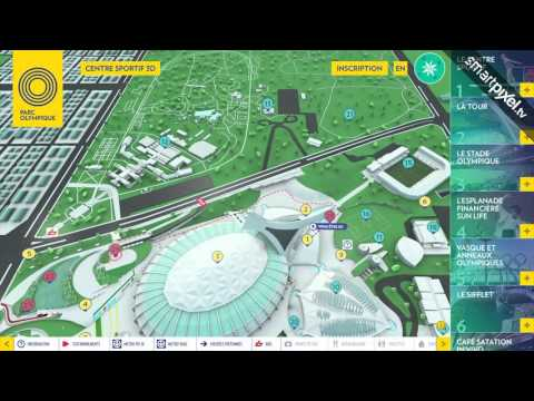 Interactive multitouch realtime 3D touchscreen application for tourism