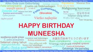 Muneesha   Languages Idiomas - Happy Birthday