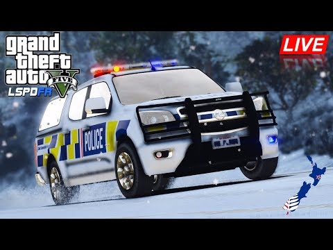 GTA 5 - LSPDFR New Zealand LIVE - Holden Colorado Snow Patrol (Play GTA as a cop mod for PC)