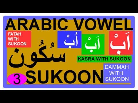 Arabic Vowel 1011 And 12 Fataha Sukoon Kasra Sukoon And Damma