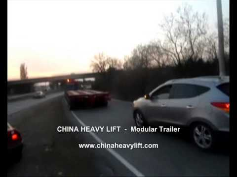 CHINA HEAVY LIFT Modular Trailer After sales service in Georgia (hydraulic multi axle) 12