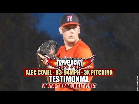 Alec Covel - 83-94mph - 3X Pitching Velocity Program