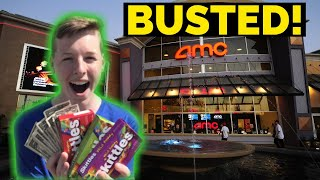 SELLING CANDY In Front Of The MOVIE THEATER (CAUGHT!)