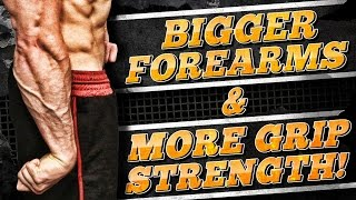 6 Tips For Bigger Forearms & More Grip Strength! | FULL FOREARM WORKOUT INCLUDED!
