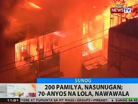 BT: 200 pamilya, nasunugan sa Tondo, Manila