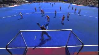 NED 2-0 POL Eva de Goede scores spectacularly from the top of the circle #UEHC2015 #EHC2015