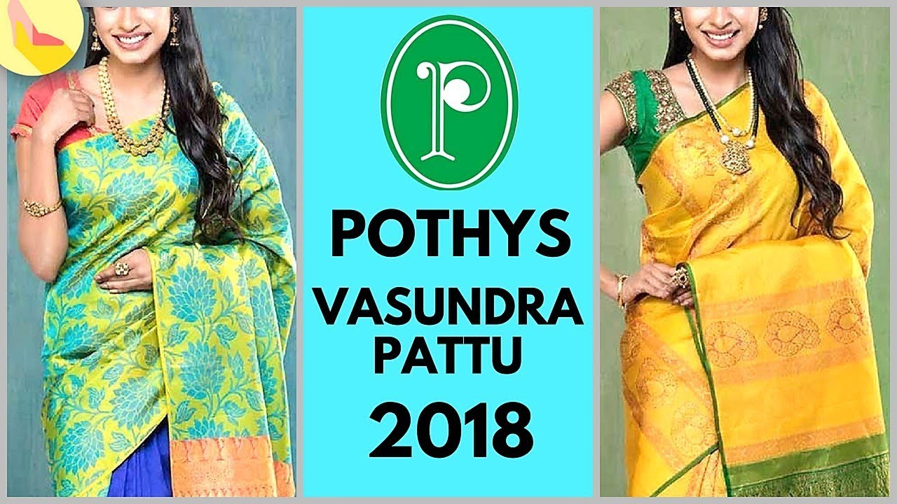 d72cdb386dd92 Pothys Vasundra Pattu Wedding Saree Collection 2018