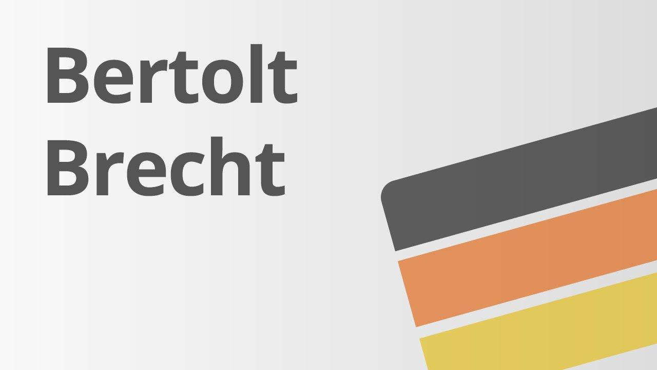 Leben Und Wirken Von Bertholt Brecht Deutsch