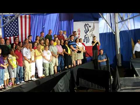 President Obama speaking in Boone, Iowa on Aug. 13, 2012