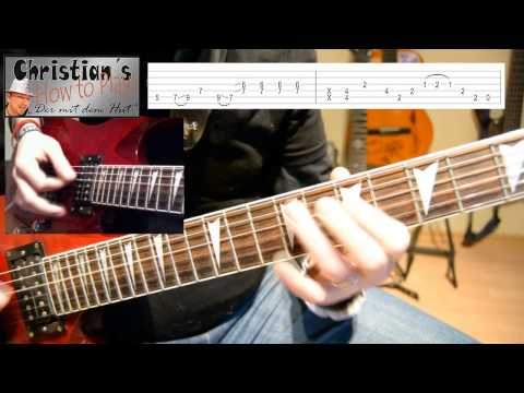 How to Play Foofighters WHEELS Tabs Akkorde E Gitarre Hauptriff Tutorial Lernen [HD] Deutsch