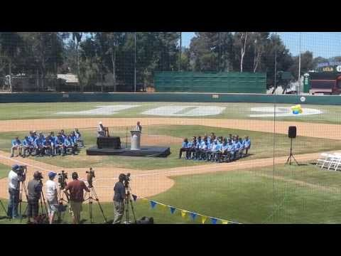 2013 UCLA Bruins - Unveiling their First NCAA Baseball Championship Banner