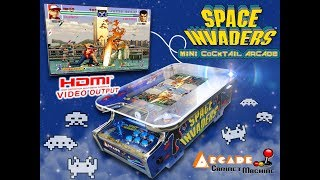 """© Arcade Cabinet Machine.com - Mini Cocktail Table """" Space Invaders 2019 """""""