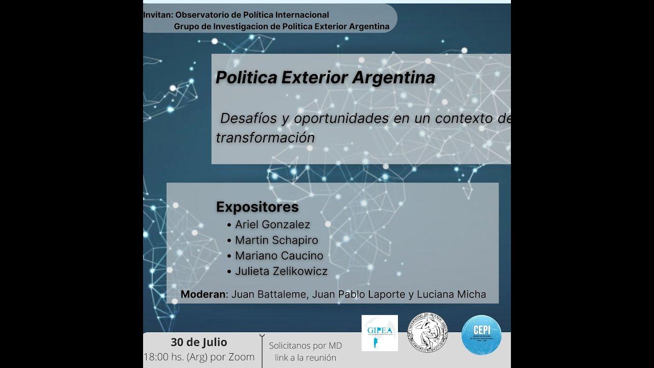 Conectando Ideas y personas: Política Exterior - Desafíos y oportunidades (#6)