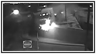 Milk Tanker Semi Truck Driver Falls Asleep And Goes Off Bridge | CCTV | United States | 20190402