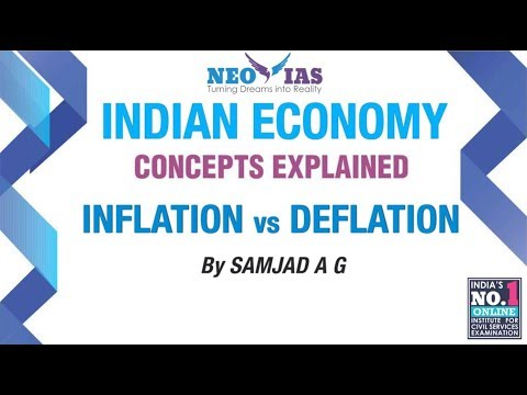 Inflation vs Deflation   Inflation Part 01  Indian Economy