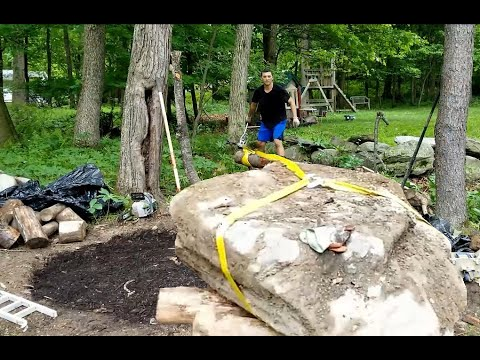 Moving A One Ton Rock In 33 Seconds One Person No Power Tools
