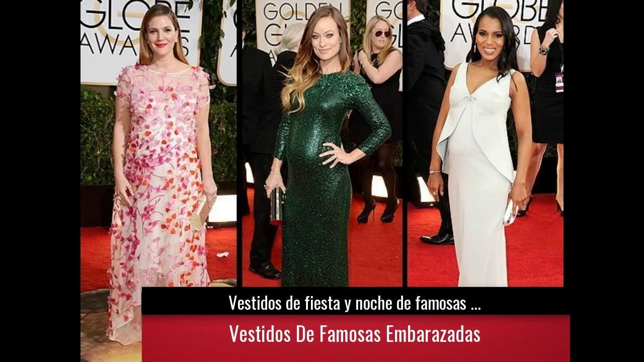 Vestidos De Fiesta Y Noche De Famosas Embarazadas