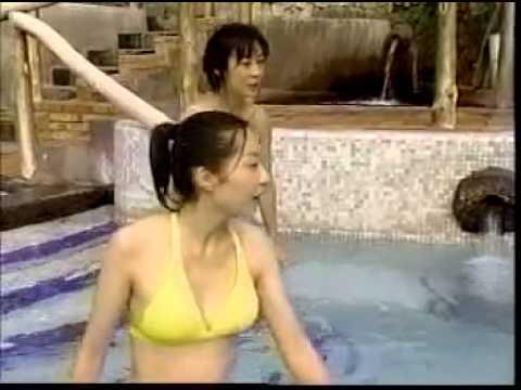 【お宝】女子アナ 黄色の水着が透け