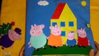 "Развивающая книжка ""Свинка Пеппа""#Quiet book#Developing book Peppa Pig"