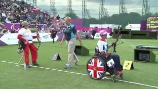 Archery - Rubio Larron (ESP) v Britton (GBR) + Su (TUR) v Markitantova (UKR) - Women's Ind. Comp. O.