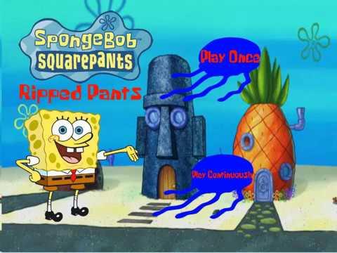 Fake Spongebob Squarepants Ripped Pants Dvd Menu Walkthrough