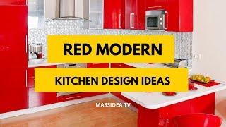 65+ Stunning Red Modern Kitchen Design Ideas
