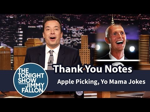 Thank You Notes: Apple Picking, Yo Mama Jokes