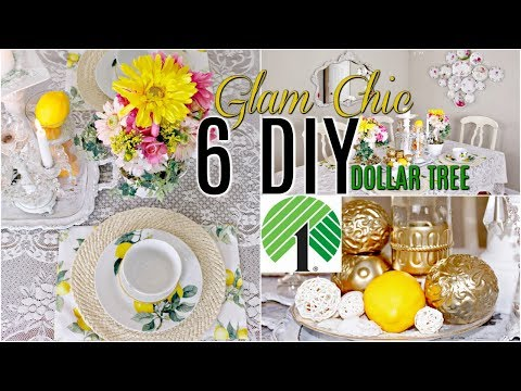 🍋6 DIY DOLLAR TREE SUMMER DECOR CRAFTS 🍋 Glam Chic / Floral/ Tablescape / Olivia's Romantic Home