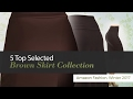 5 Top Selected Brown Skirt Collection Amazon Fashion, Winter 2017