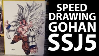 SPEED DRAWING GOHAN SSJ5 - FROM DRAGON BALL AF