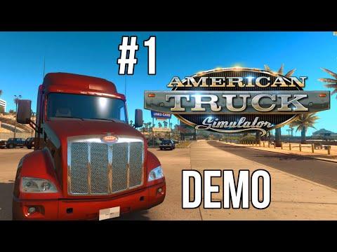 American Truck Simulator DEMO (#1) - Na Drogach USA, Gameplay Pl