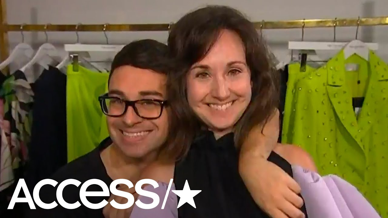 Christian Siriano Styles His Mom & Sister In Glam Looks Behind-The-Scenes At New York Fashion Week