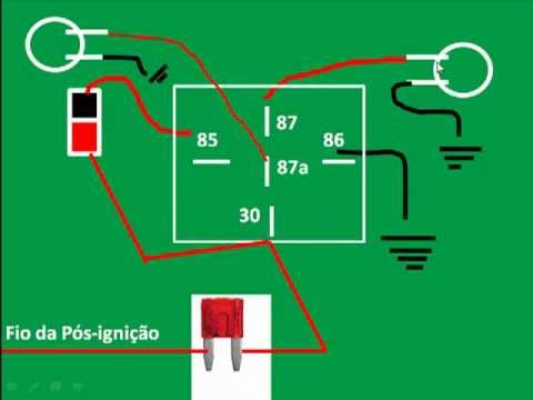 hqdefault  Amp Relay Wiring Diagram Lights on