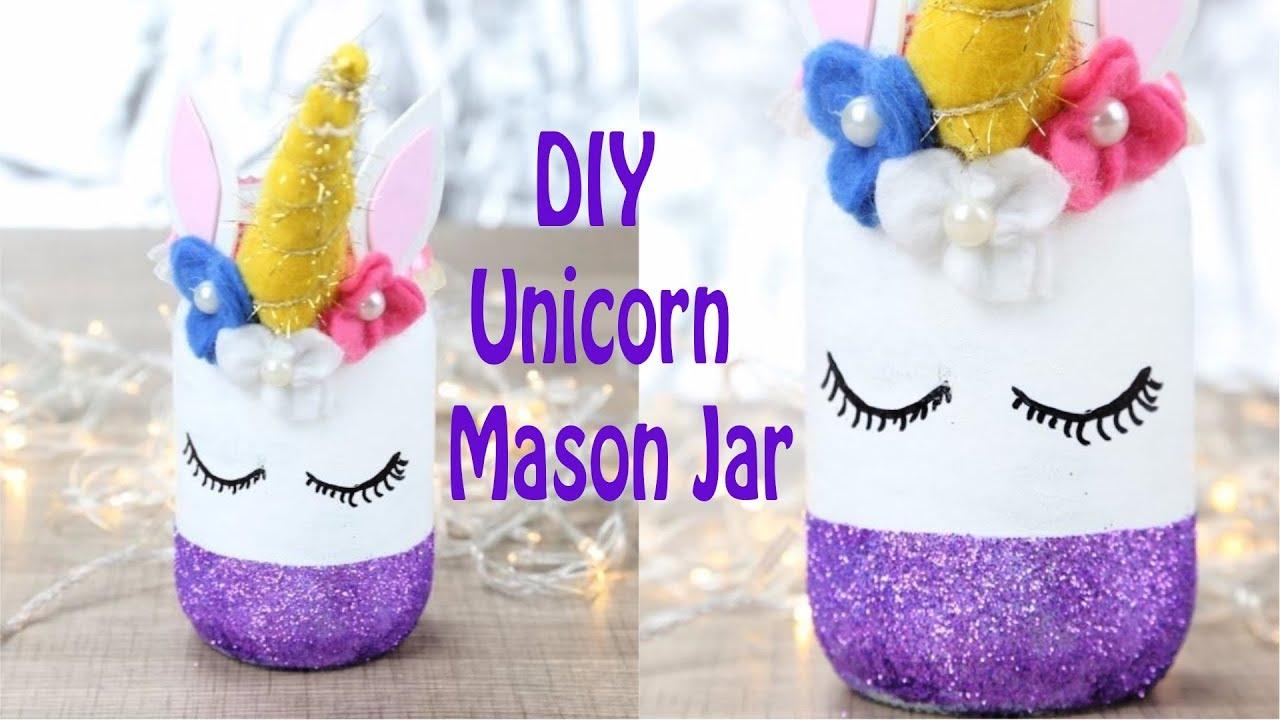 Diy Unicorn Mason Jar Unicorn Room Decor Youtube