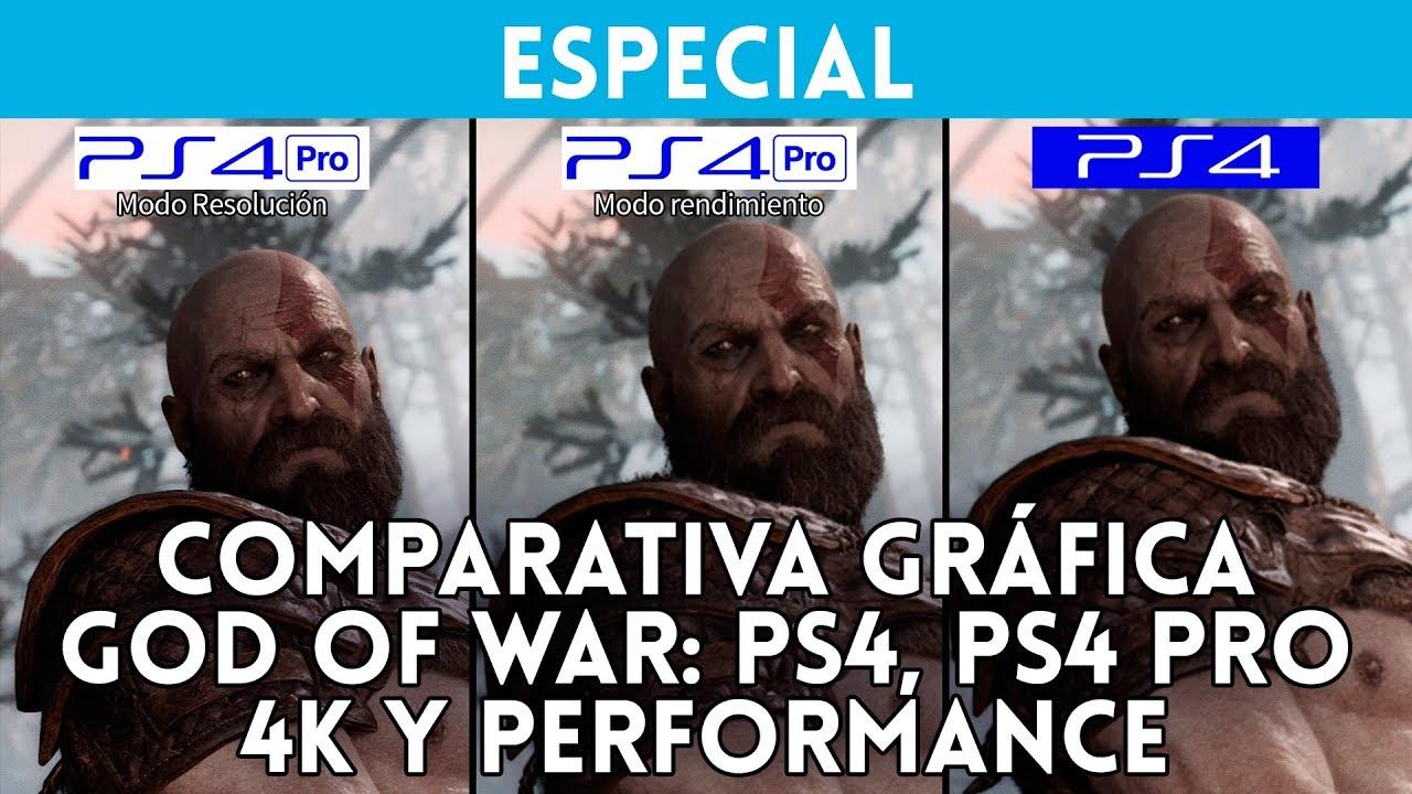 god of war comparativa gr fica ps4 ps4 pro 4k y rendimiento gameplay versi n final espa ol. Black Bedroom Furniture Sets. Home Design Ideas
