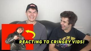 REACTING TO OLD CRINGEY VIDEOS 2! ft. David Dobrik
