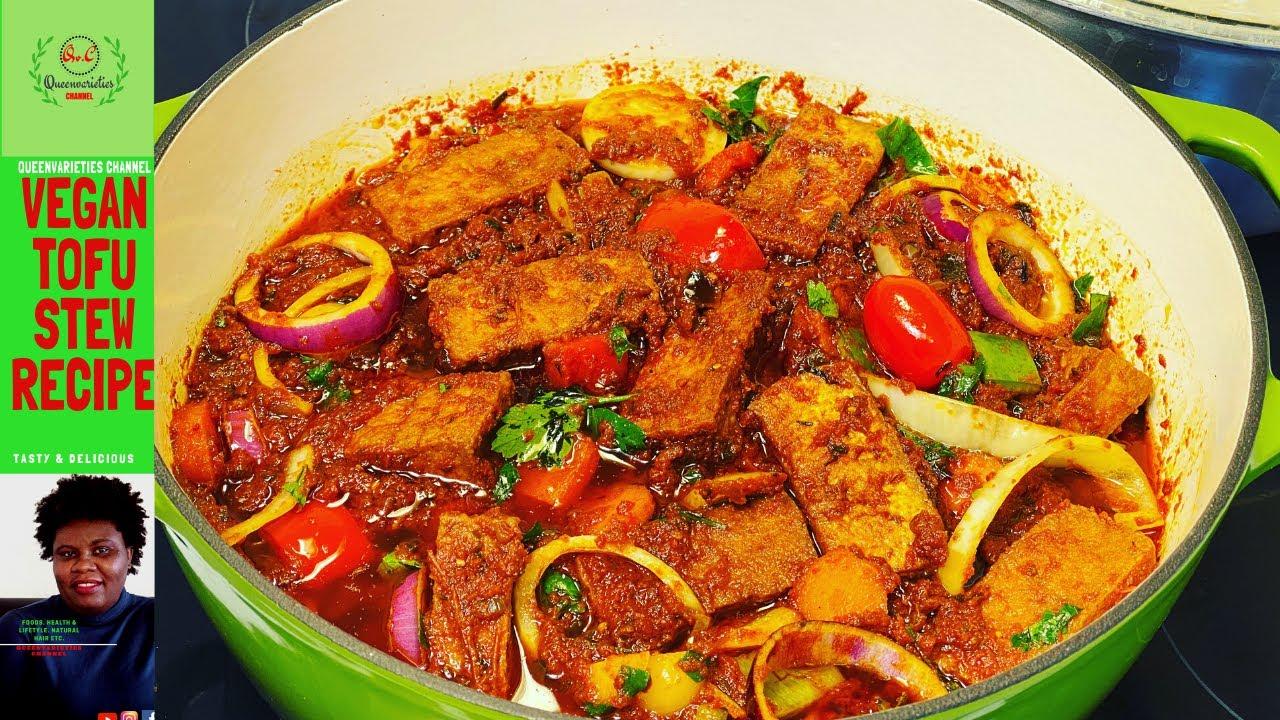VEGAN NIGERIAN STEW RECIPE| African Vegan Tofu Vegetable Stew ??