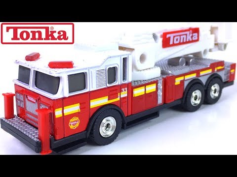 TONKA METAL DIECAST BODIES CARS  RESCUE FIRETRUCK 4X4 HAULERS POLICE TRUCK AND JEEP - UNBOXING