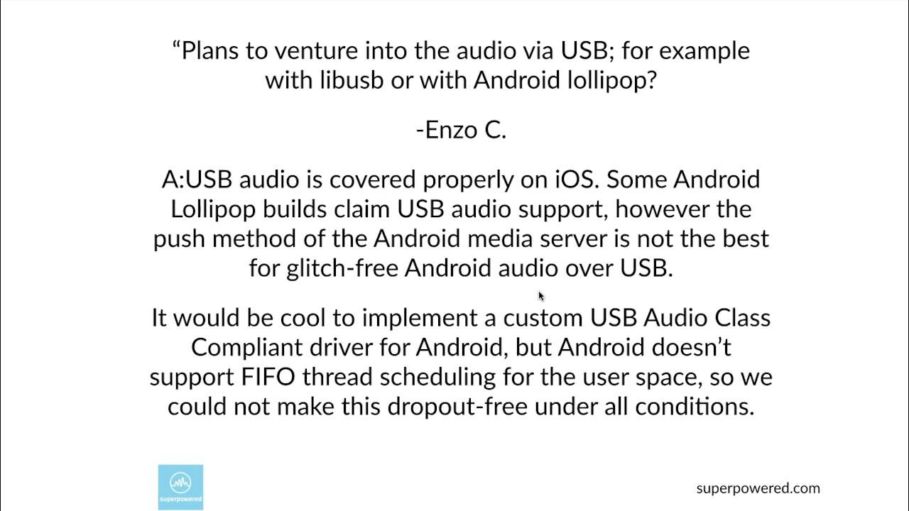 USB audio or libUSB for Android Lollipop?