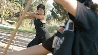Asian Girl: Bo Staff Fight