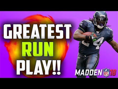 THE GREATEST RUN PLAY IN MADDEN 18!!!