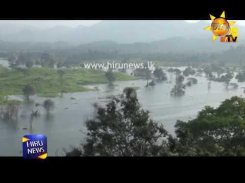 water filling of the Moragahakanda Reservoir